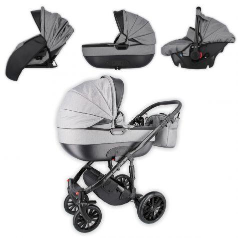 Kinderwagen Buggy Babyschale Babywanne Autositz 3 in 1 Komplettset viel Zubehör