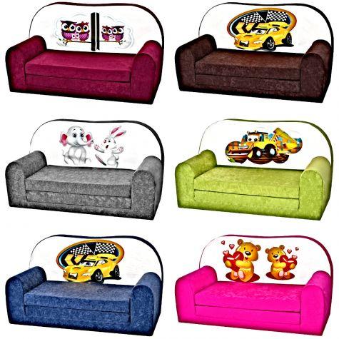 Kindersofa Kindersessel Minisofa Klappsofa Kindercouch Kindermöbel Microfaser