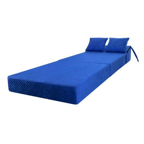 Schlafsessel Klappmatratze Faltmatratze Gästebett Schlafsofa Blau