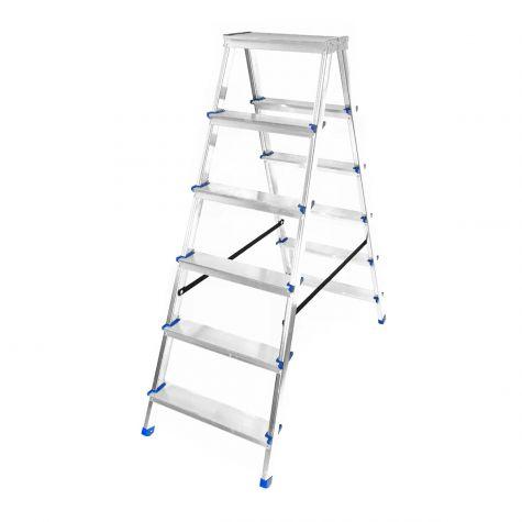Stehleiter Klappleiter Aluleiter Bockleiter Mehrzweckleiter 2x6 Stufen  bis 150kg