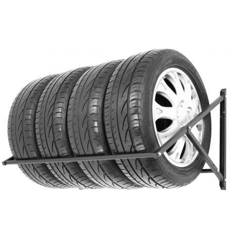 Reifenregal Felgenbaum Reifenhalter Reifenwandhalter Felgenregal für 4 Räder