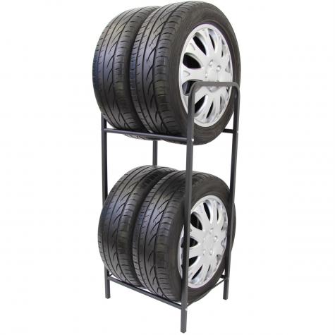 Reifenregal Reifenhalter Felgenbaum Reifenständer Felgenregal für 4 Räder