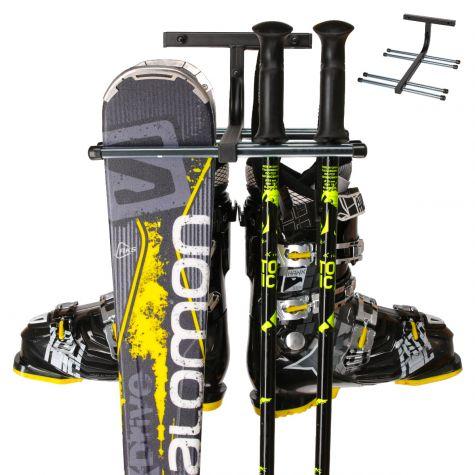 Skihalterung Skiwandhalter Skiaufbewahrung Skihalter für 4 Paar Ski
