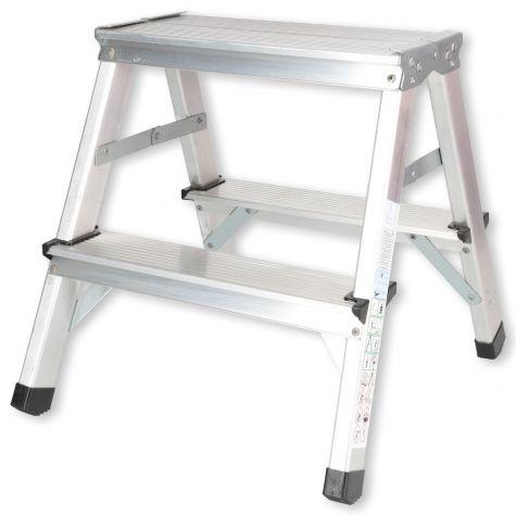 Stehleiter Klappleiter Aluleiter Bockleiter Mehrzweckleiter 2 bis 6 Stufen 125kg 2x2 Stufen