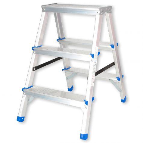 Stehleiter Klappleiter Aluleiter Bockleiter Mehrzweckleiter 2x3 Stufen  bis 150kg