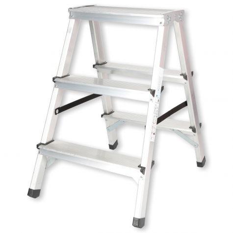 Stehleiter Klappleiter Aluleiter Bockleiter Mehrzweckleiter 2 bis 6 Stufen 125kg 2x3 Stufen