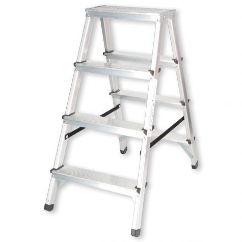 Stehleiter Klappleiter Aluleiter Bockleiter Mehrzweckleiter 2 bis 6 Stufen 125kg 2x4 Stufen