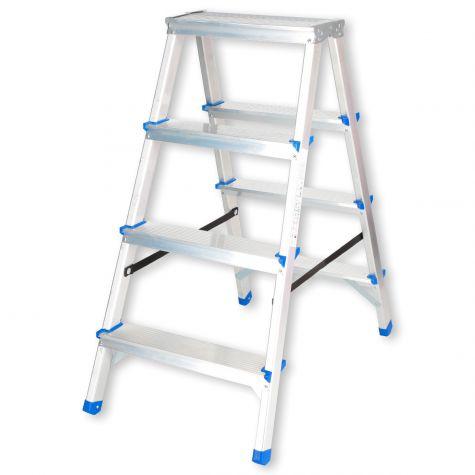 Stehleiter Klappleiter Aluleiter Bockleiter Mehrzweckleiter 2x4 Stufen  bis 150kg