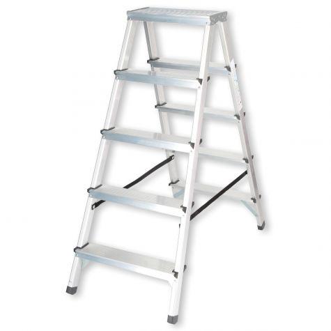 Stehleiter Klappleiter Aluleiter Bockleiter Mehrzweckleiter 2 bis 6 Stufen 125kg 2x5 Stufen