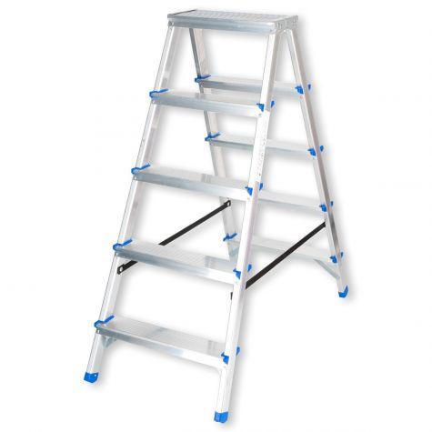 Stehleiter Klappleiter Aluleiter Bockleiter Mehrzweckleiter 2x5 Stufen  bis 150kg